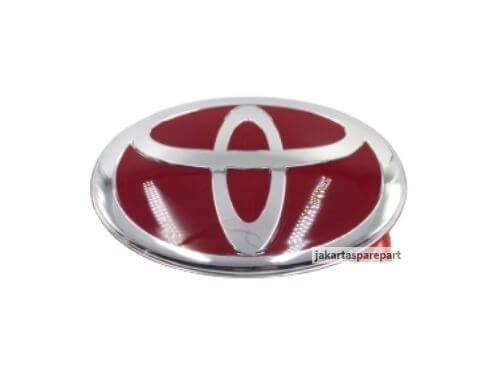 Emblem-Red-Toyota-Ukuran-15.3x10.5cm