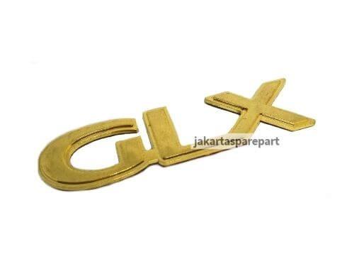Emblem Tulisan GLX Gold Ukuran 10.3x2.5cm
