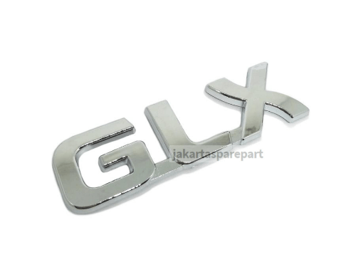 Emblem Tulisan GLX Warna Chrome Ukuran 10.3x2.5cm Untuk Mitsubishi