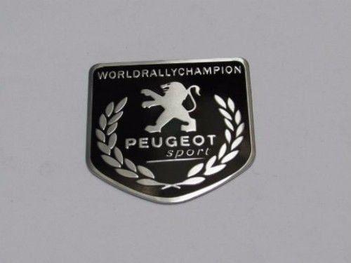 Emblem Tempel PEUGEOT Sport WRC Ukuran 5x5cm