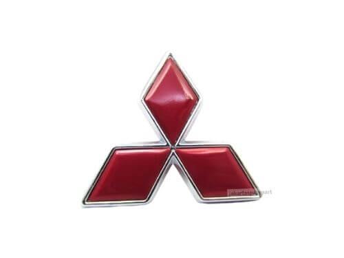 Emblem-Tiga-Berlian-Warna-Merah-Ukuran-4.7x4cm-Untuk-Mitsubishi