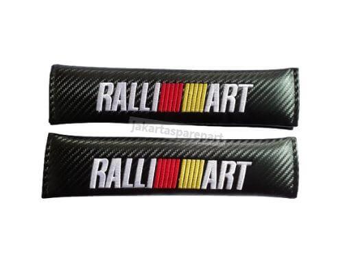 Seat Belt Cover Mitsubishi Logo Ralliart Motif Carbon