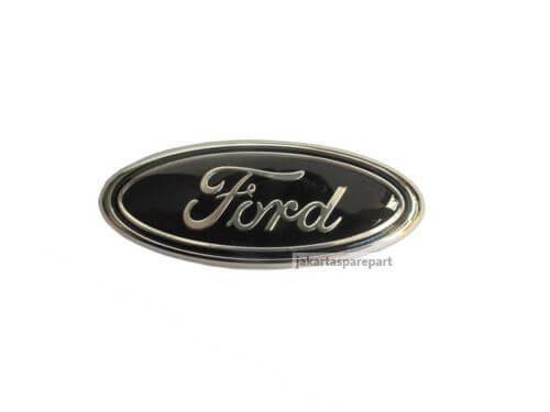 Emblem Logo Ford Warna Hitam Ukuran 9.5x3.9cm