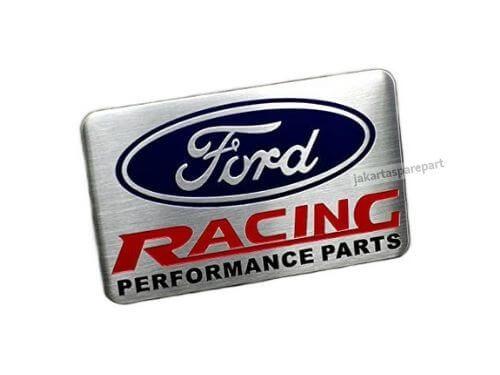 Emblem Tempel Ford RACING PERFORMANCE PARTS Ukuran 8x5cm