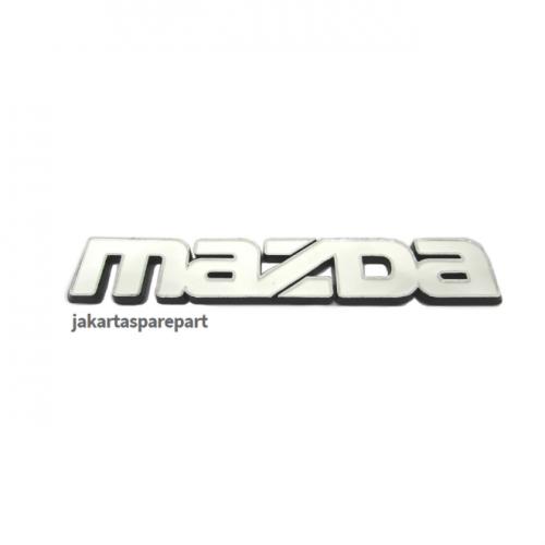 Emblem Tulisan Mazda Warna Putih Ukuran 11.3x2cm