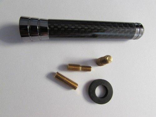 Antena Mini Cooper Tahun 2001-2012 Ukuran Panjang 7.5cm, Diameter 1.2cm Motif Carbon