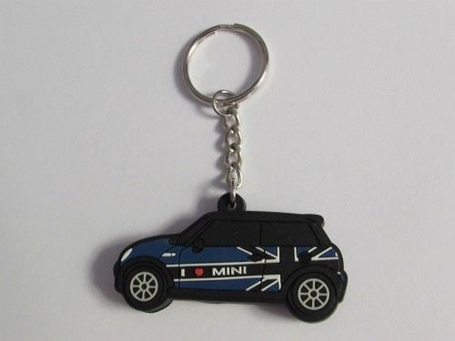 jual-LED-Gantungan-Kunci-Mini-Cooper-Blue-Car-Black-Flag