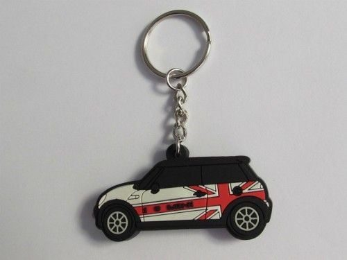 jual-aksesoris-Gantungan-kunci-mini-cooper-Putih-hitam