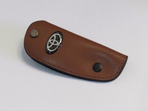 jual-dompet-Kunci-Toyota-Bahan-Kulit-Coklat-Tua-Ukuran-10.5x4.2cm