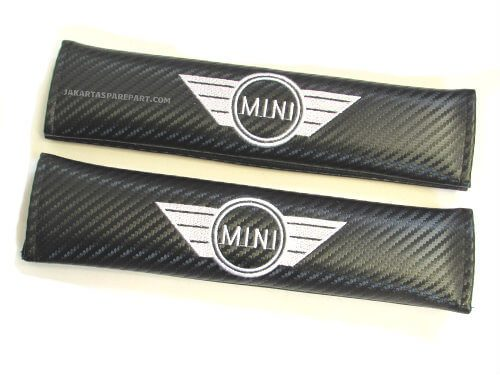 Seat Belt Cover Mini Cooper Motif Carbon