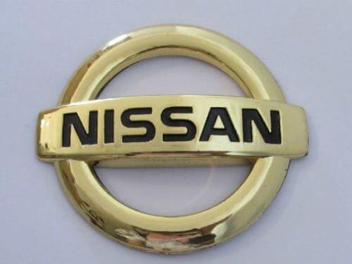 Emblem-Logo-Nissan-Warna-Gold-Ukuran-8.3x7.3cm