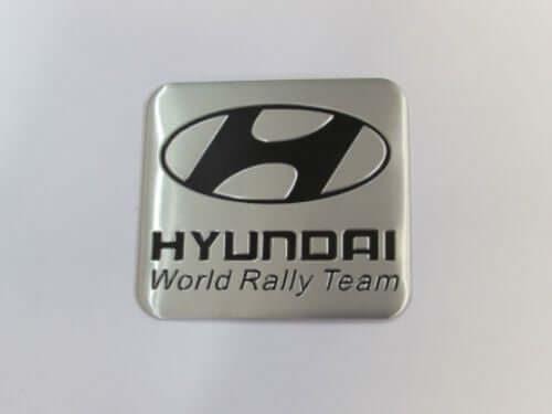 Emblem Tempel HYUNDAI World Rally Team Ukuran 6.1x5.5cm