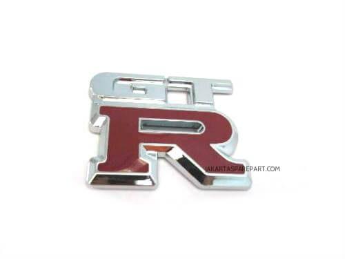 Emblem-Tulisan-GTR-R-Merah-ukuran-6.5x5.5cm