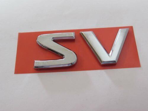 Emblem-Tulisan-SV-Warna-Chrome-Nissan-Evalia