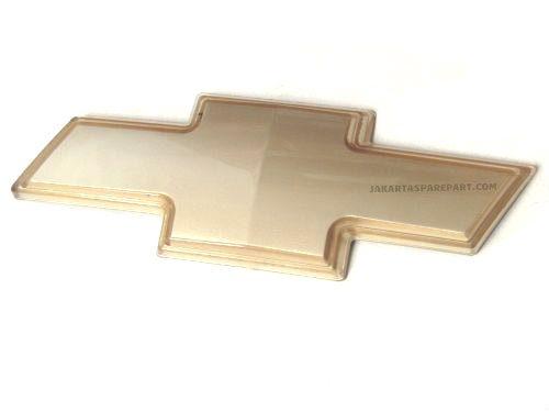Emblem Logo Chevrolet Warna Gold Ukuran 21x7.8cm