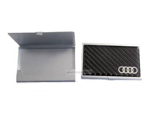 Tempat-Kartu-Nama-Logo-Audi-Carbon-Ukuran-9.4x5.8cm