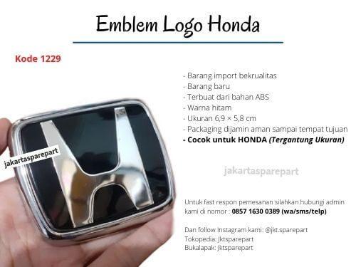Emblem-Honda-Hitam-Ukuran-6.9×5.8cm