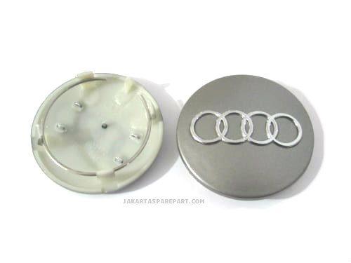 Dop Velg Audi Ukuran 68mm Warna Abu-Abu