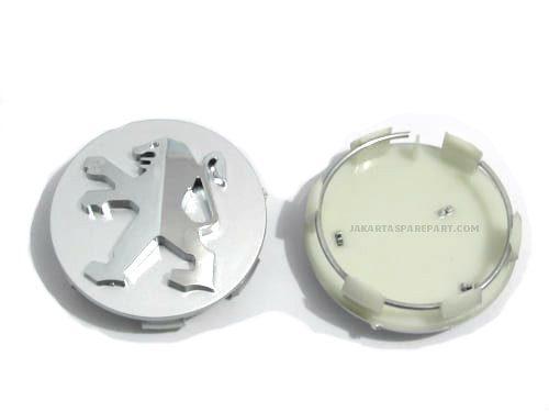 Dop Velg Peugeot 60mm Silver Chrome