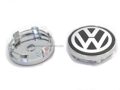 Dop Velg VW 60mm Hitam Putih