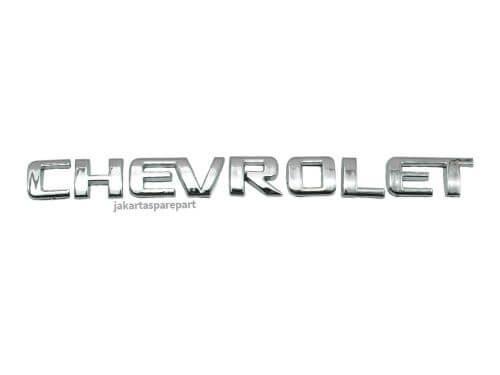Emblem Tulisan CHEVROLET Ukuran 20x1.8cm
