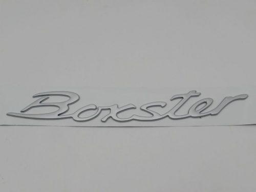 Emblem Tulisan BOXSTER Warna Silver Ukuran 28.5x3.5cm For Porsche