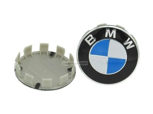 Dop Velg BMW Ukuran 68mm Warna Biru Putih
