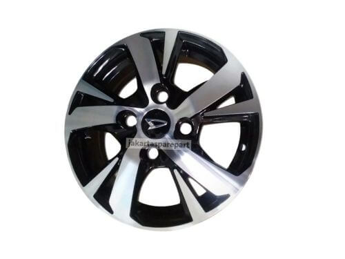 Dop Velg Daihatsu Ukuran 60mm Warna Glossy Black