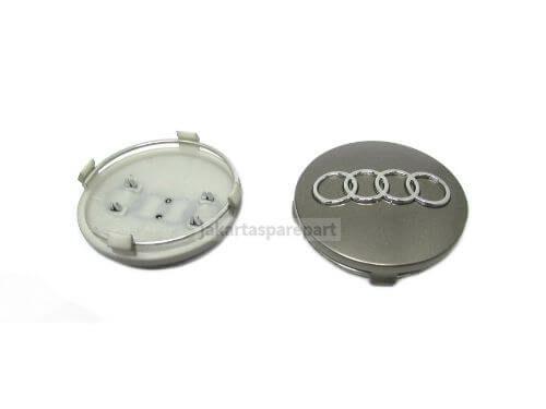 Dop Velg Audi Ukuran 60mm Warna Abu-Abu
