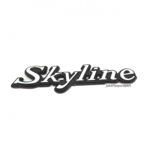 Emblem Tulisan Skyline Pinggiran Hitam Ukuran 16.3x4.5cm