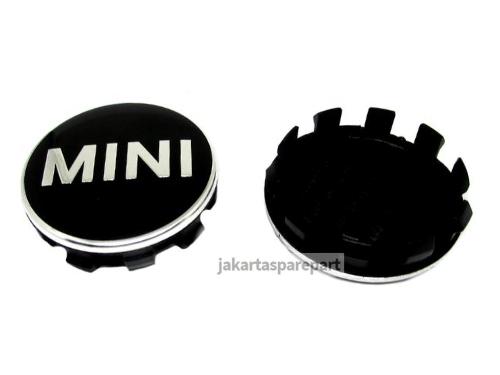 Dop Velg Tulisan MINI Warna Hitam Ukuran 52mm Untuk Mini Cooper F55, F56, Clubman F54, Cabrio F57, Countryman F60