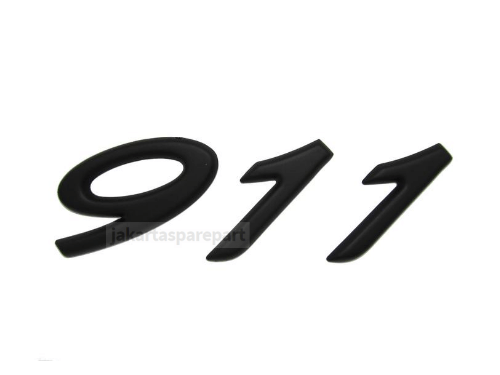 Emblem-Angka-911-Warna-Matte-Black-Ukuran-10x3.9cm-Untuk-Porsche