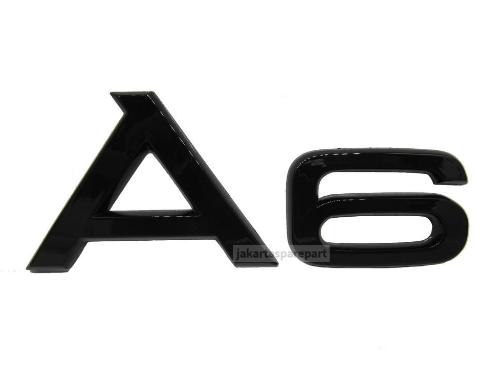 Emblem-Angka-A6-Glossy-Black-Untuk-Audi