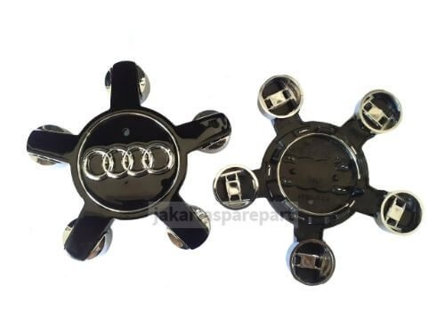 Dop Velg Audi Ukuran 13cm Warna Glossy Black Model Bintang untuk A4, S4, A5, S5, Q5, A88 TT
