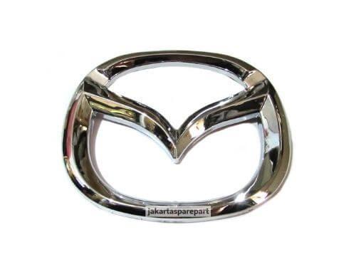 Emblem-Logo-Mazda-Warna-Chrome-Model-Melengkung-dan-Berkaki-Ukuran-7x6cm