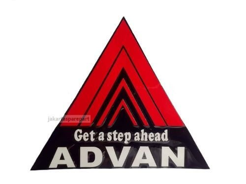 Sticker-Get-a-Step-Ahead-Advan-Ukuran-12.5x10.5cm-Bentuk-Segitiga-Warna-Merah-Hitam