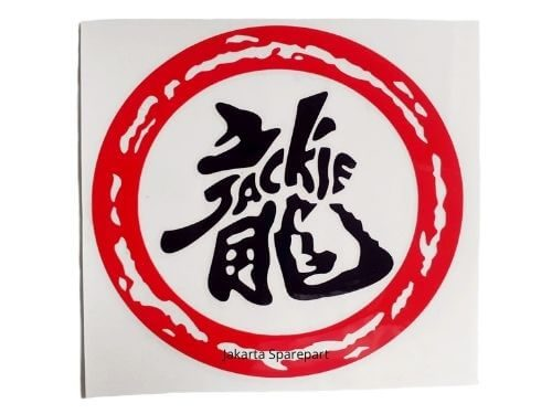 Sticker-Jackie-Warna-Merah-Hitam