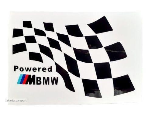 Sticker-Powered-M-Tech-BMW-Warna-Hitam