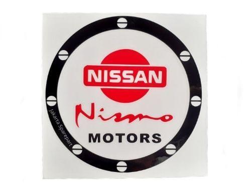 Stiker-NISSAN-Nismo-MOTORS-Warna-Merah-Hitam